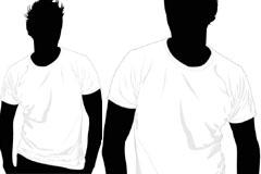 一款流行T恤矢量素材