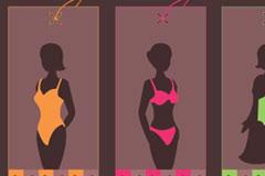 实用时尚女性小吊牌矢量素材
