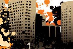 潮流都市插画矢量素材