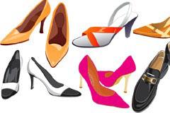 多款女士高跟鞋矢量素材