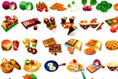 食品果蔬厨具大全矢量素材