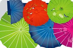 中国传统纸伞矢量素材
