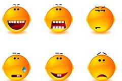 一组搞笑表情图标矢量素材