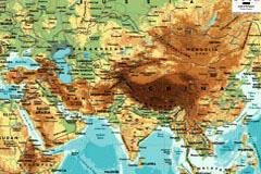 精美亚洲地图矢量素材