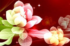 梦幻花朵背景矢量素材