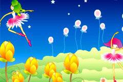 韩国可爱卡通花仙子矢量素材