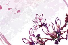 几款经典手绘花朵背景矢量素材