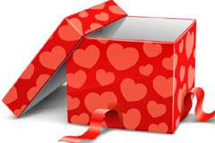 2款十分精美的节日礼盒矢量素材