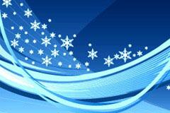 冬日主题动感线条背景矢量素材