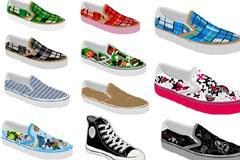 多款漂亮时尚帆布鞋矢量素材