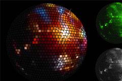2款Disco水晶球背景矢量素材