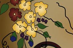 手绘花纹背景矢量素材