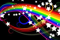 七彩虹绚丽背景矢量素材