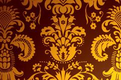 一款中国古典花纹背景矢量素材
