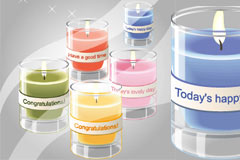 写实风格节日蜡烛矢量素材