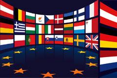多款欧盟国家旗帜矢量素材