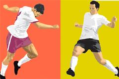 2款足球运动员矢量素材