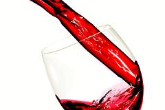 动感红酒背景矢量素材