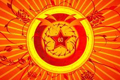 国庆60周年纪念图文背景矢量素材