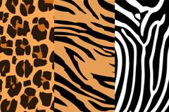 多款实用装饰动物花纹背景矢量素材