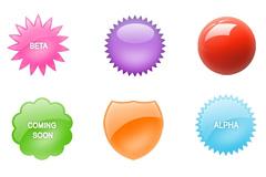 9枚WEB2.0 PSD徽章图片