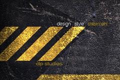 黄色警戒线PSD分层素材
