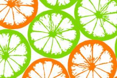 清新橙子平铺背景矢量素材