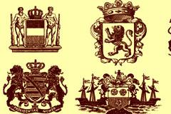 多款欧式风格皇冠装饰图案矢量素材
