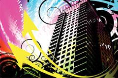 潮流城市建筑矢量素材