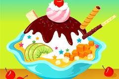诱人美味冰淇淋矢量素材