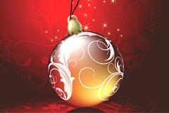 精美圣诞节彩球矢量素材