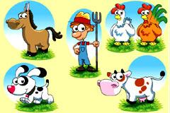 多款可爱卡通动物矢量素材