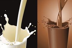 牛奶飞溅精彩瞬间矢量素材
