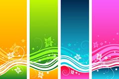 动感线条彩色卡片背景矢量素材