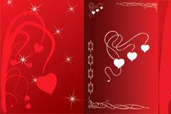 浪漫红心背景矢量素材