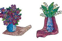 个性花卉艺术矢量素材