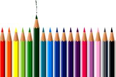 彩色铅笔组合矢量素材