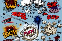 卡通潮流爆炸标签矢量素材