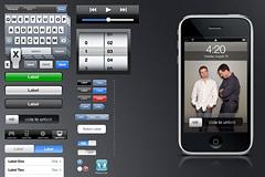 iPhone GUI 分层素材