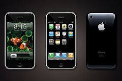 iPhone正面和反面PSD分层素材