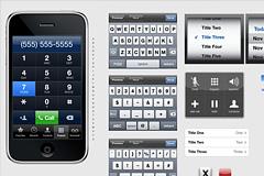 又一款iphone的UI界面PSD分层素