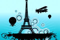 埃菲尔铁塔潮流建筑插画矢量素材