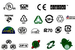 常见国内外认证标志矢量素材大全