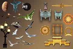 中国古典元素psd素材下载