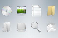8个质感PSD电脑图标下载