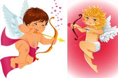 卡通风格可爱爱神小天使矢量素材