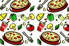 2款食品果蔬题材背景矢量素材