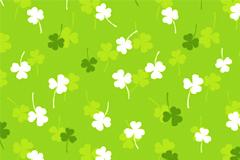 一款清新可爱的四叶草平铺背景矢量素材