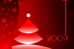 2009圣诞节贺卡模板矢量素材