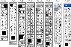 Photoshop工具条的演变